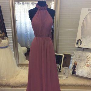 Chiffon Halter Dress with pockets